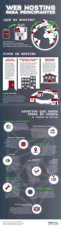 web hosting infografía